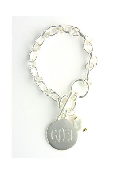 Personalized Pearl Charm Link Bracelet BSP08