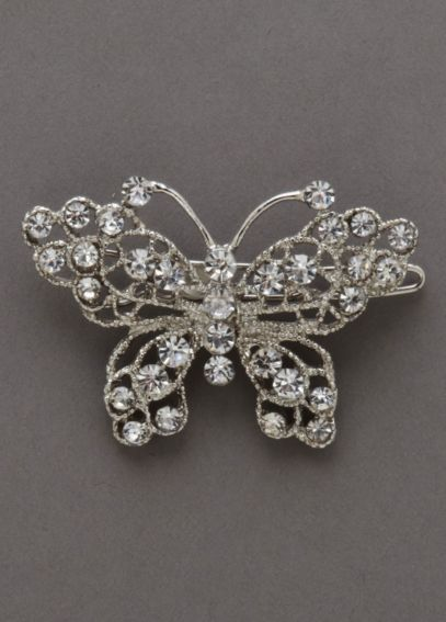 Crystal Butterfly Barrette C30519
