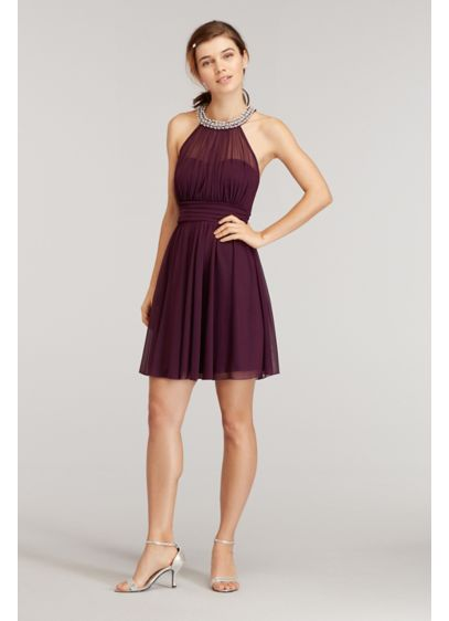 Short Purple Soft & Flowy Speechless Bridesmaid Dress