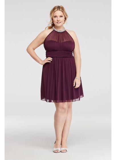 Short Purple Soft & Flowy Speechless Bridesmaid Dress