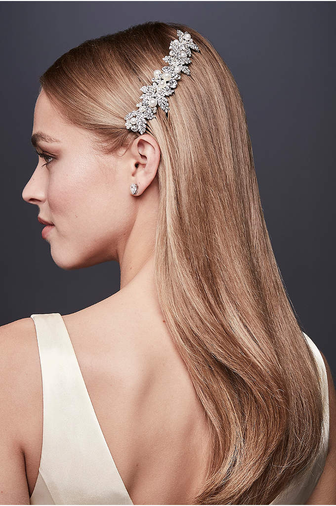 Embellished Crystal and Pearl Comb - An updated version of the classic crystal and