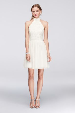 lace cocktail dress ivory