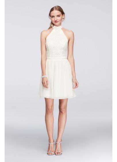 Short A Line Halter Tail And Party Dress Schless