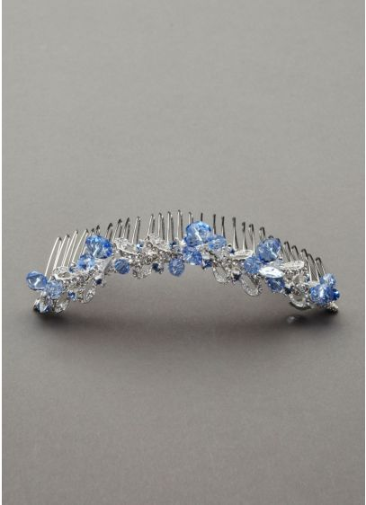 Bluebird Crystal and Rhinestone Comb - Wedding Accessories