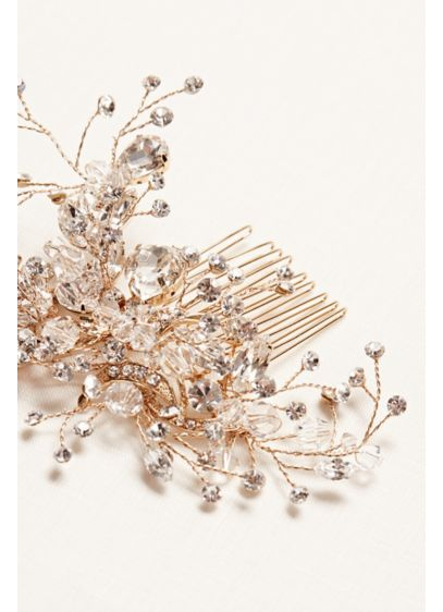 Crystal and Rhinestone Hand Wired Comb - Wedding Accessories