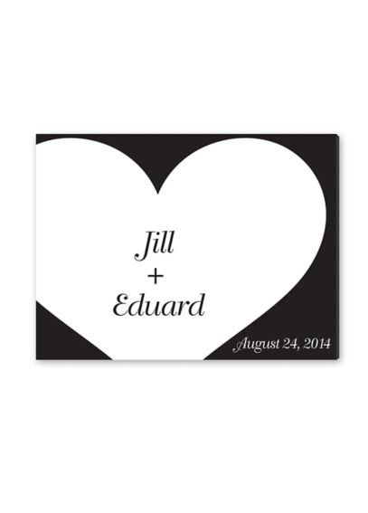 Personalized Shadow of Love Signature Canvas CA0043