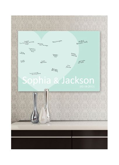 Personalized Heart Signature Canvas CA0048