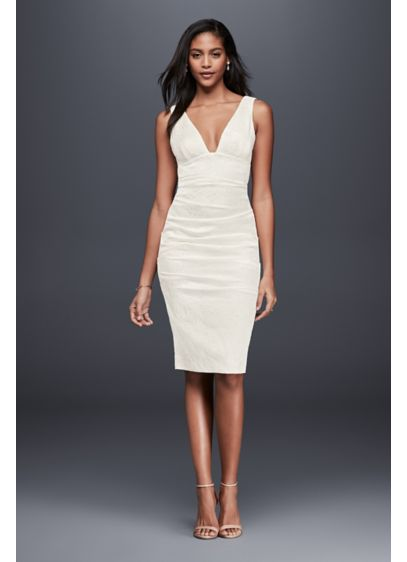 Short Sheath Simple Wedding Dress Nicole Miller