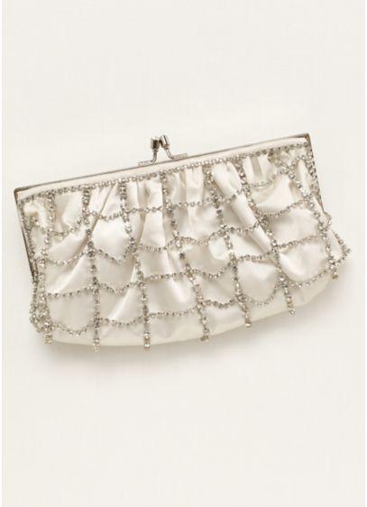La Sera by Franchi Chain Link Crystal Clutch - Wedding Accessories
