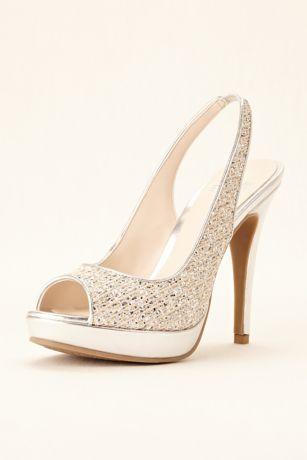 Blue dress gold shoes 06790