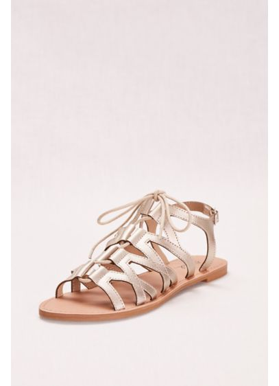 Qupid Ivory (Gladiator Lace-Up Sandal)