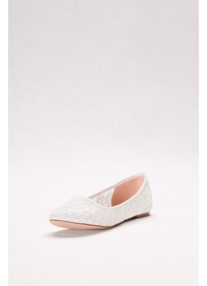 Blossom White (Embroidered Lace Ballet Flats)