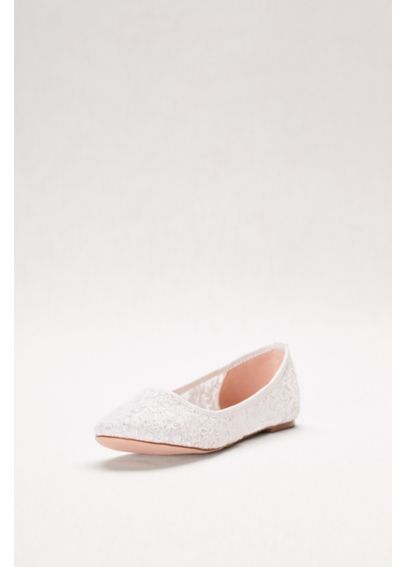 Embroidered Lace Ballet Flats CBABA53