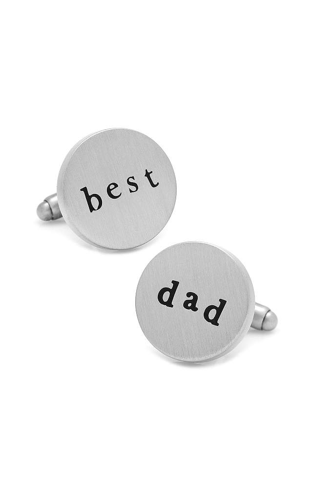 Best Dad Cufflinks - Best Dad round cufflinks make a wonderful and