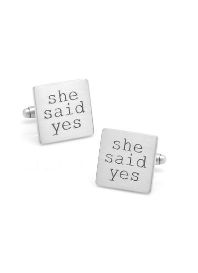 She Said Yes Cufflinks - Wedding Gifts & Decorations