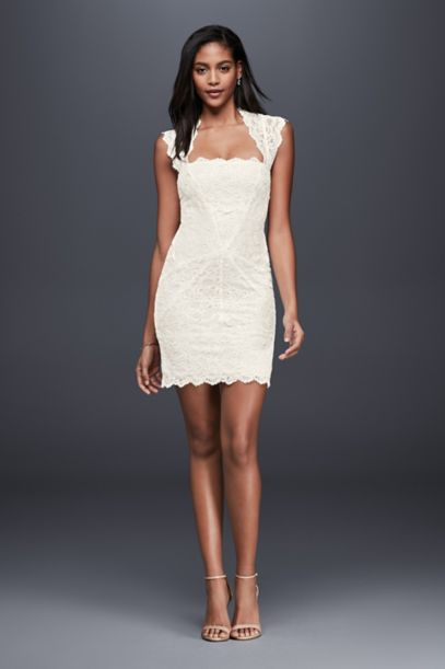 Little White Dresses in Various Styles &amp Lengths  David&39s Bridal