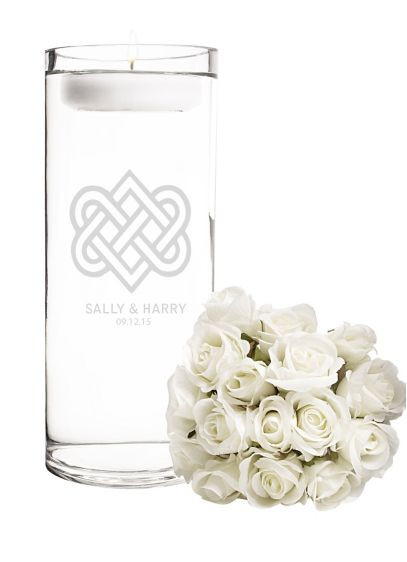 Personalized Celtic Knot Floating Unity Candle - Wedding Gifts & Decorations