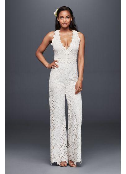 Long Jumpsuit Dress Alternatives Wedding Dress - Nicole Miller