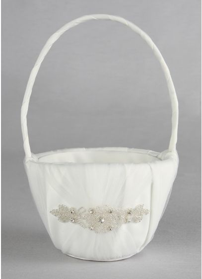Ivory (DB Exclusive Sparkle Flower Girl Basket)