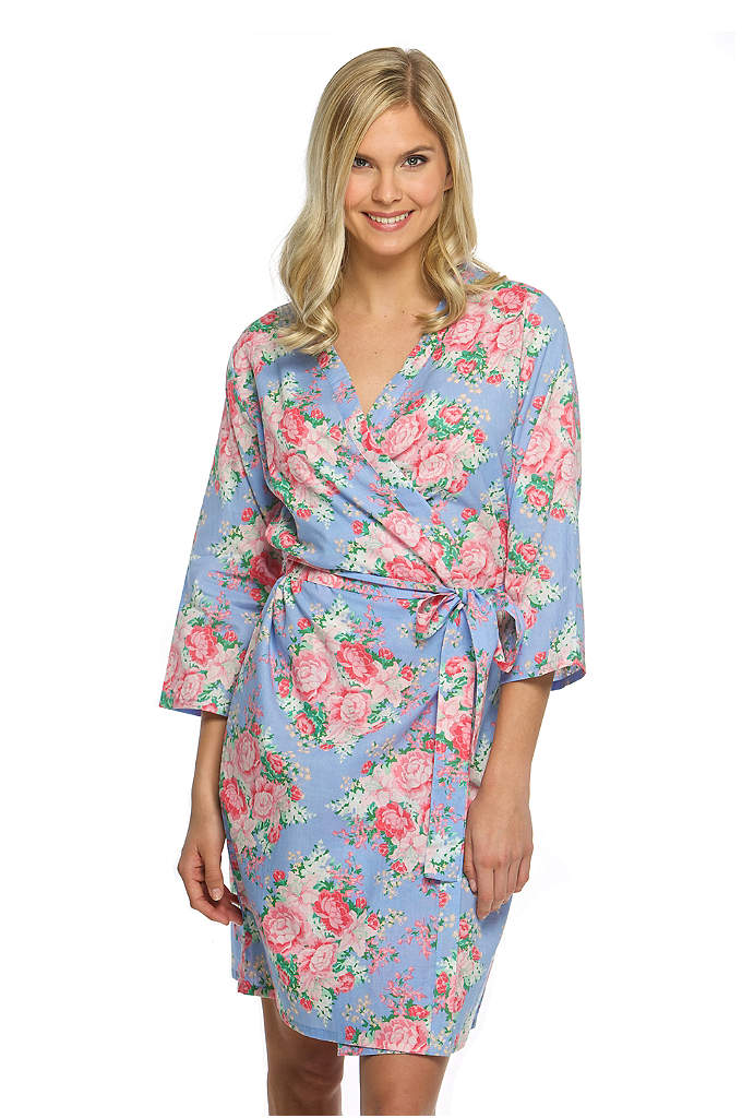 Cotton Floral Robe - Your bridesmaids will adore these stylish floral robes!
