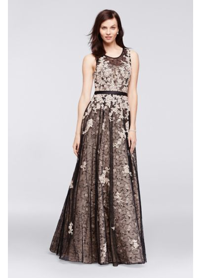 Long Ballgown Tank Military Ball Dress - Viola Chan