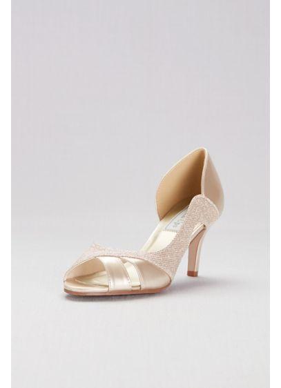 Touch Ups Grey (Metallic D'Orsay Heels with Metallic Fabric Inset)
