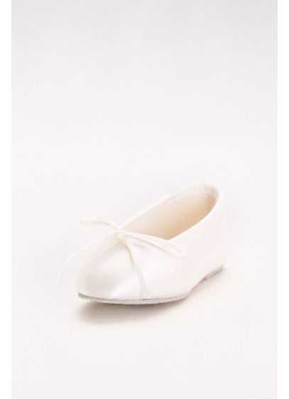 Touch Ups White (Girls Dyeable Satin Ballerina Flats)