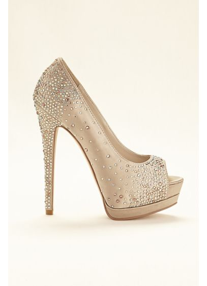 David's Bridal Grey (Platform Peep Toe Pump)