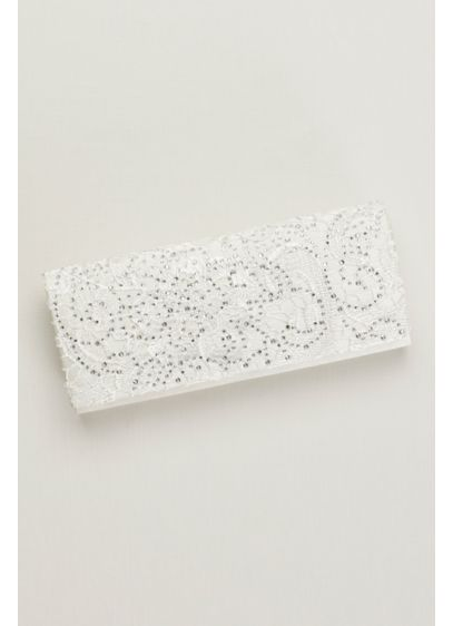 Lace and Crystal Clutch - Wedding Accessories