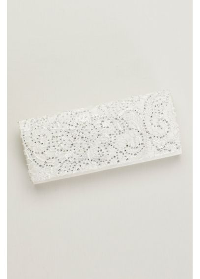 Lace and Crystal Clutch CKEB020