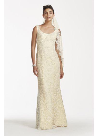 Long Sheath Vintage Wedding Dress - Oleg Cassini