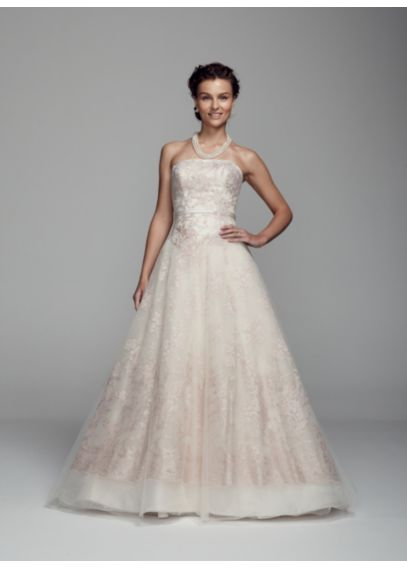 Organza Ball Gown with Embroidered Applique Detail CKP652