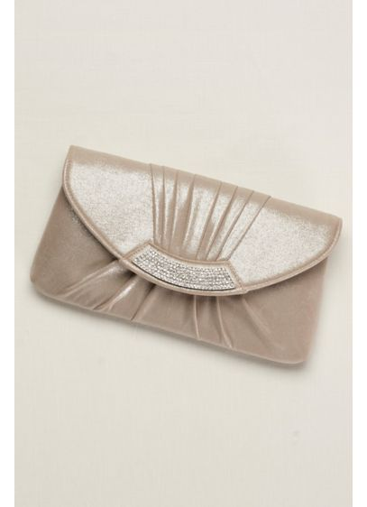 Pleated Metallic Envelope Clutch - Wedding Accessories