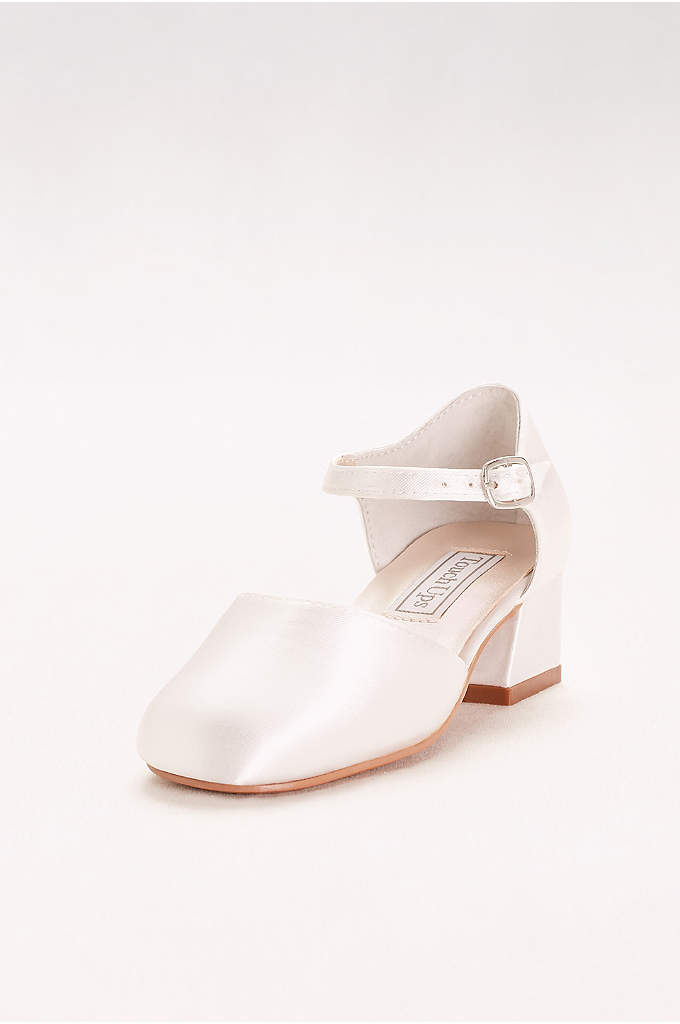 Clarissa Classic Dyeable Flower Girl Shoes - Perfect for any occasion, these dyeable satin shoes