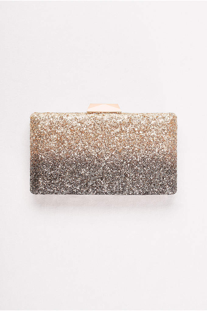 Ombre Glitter Minaudiere - The progression of shading gives this glittery clutch