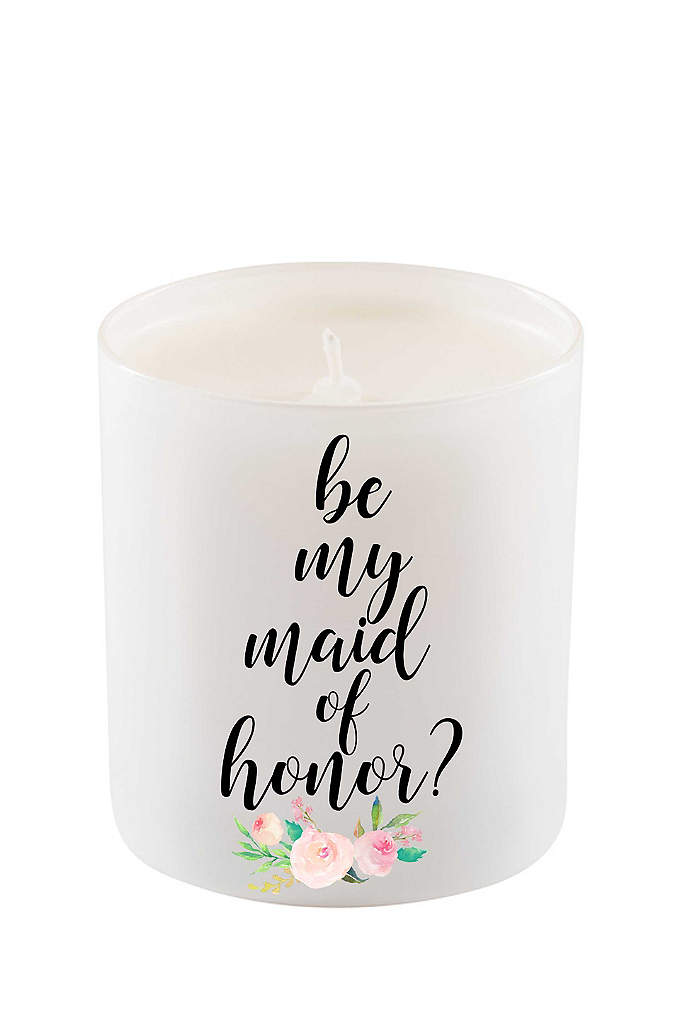 Be My Maid of Honor Candle - Gift this gorgeous floral design candle to your