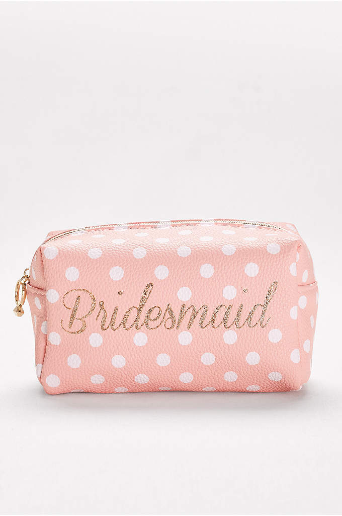 Bridesmaid Cosmetic Bag - Shadow, liner, blush, gloss: This roomy make-up case