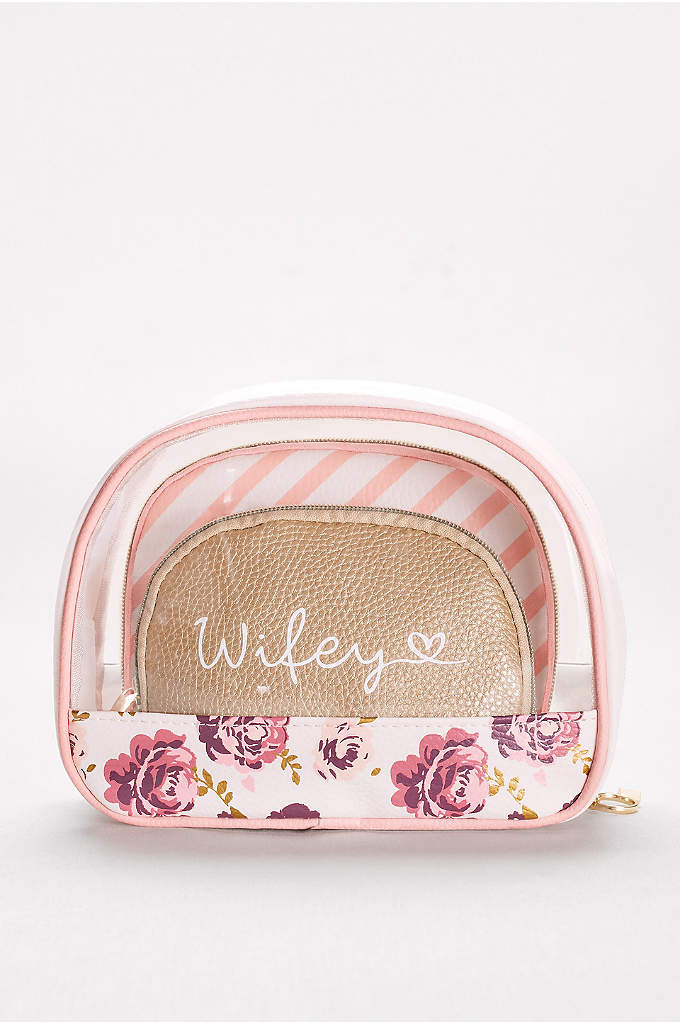 Wifey Cosmetic Bags Set of 3 - Perfect for the wedding weekend, honeymoon, and all