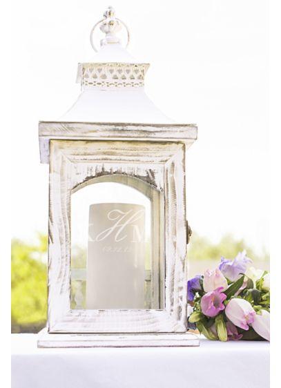 Personalized Rustic Monogram Centerpiece Lantern - Wedding Gifts & Decorations
