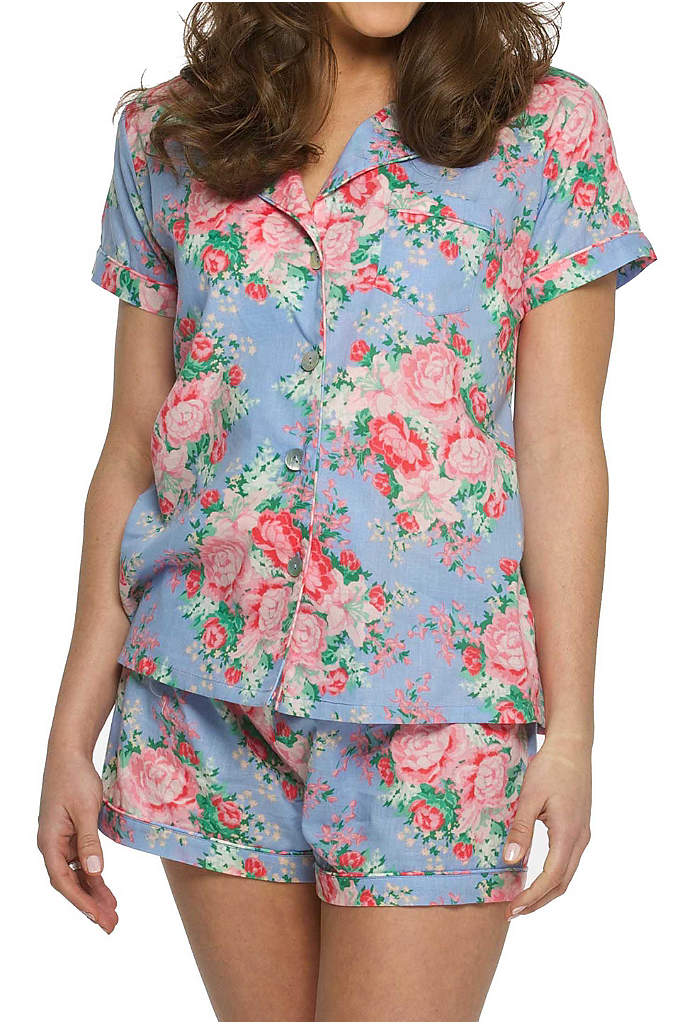 Cotton Floral Pajama Set - Made of silky soft cotton, these adorable Floral