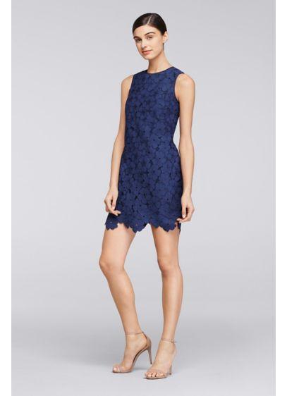 Short Blue Soft & Flowy Cheers Cynthia Rowley Bridesmaid Dress