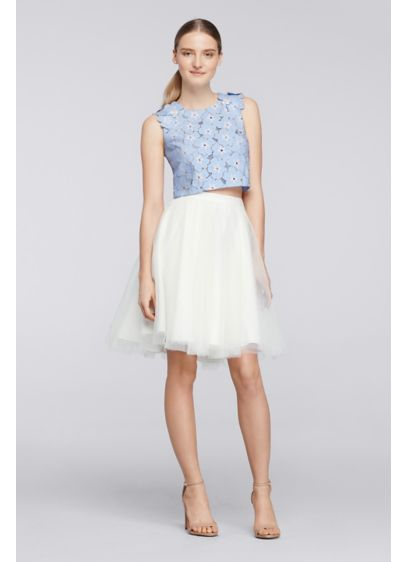 Short Ivory Soft & Flowy Cheers Cynthia Rowley Bridesmaid Dress