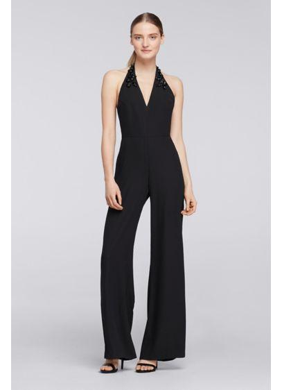 Long Black Soft & Flowy Cheers Cynthia Rowley Bridesmaid Dress