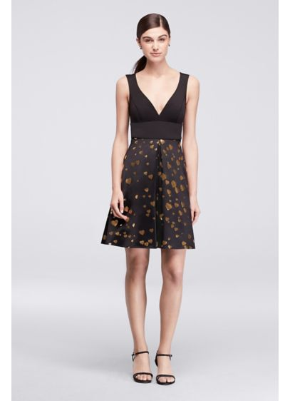 Short Black Soft & Flowy Cheers Cynthia Rowley Bridesmaid Dress
