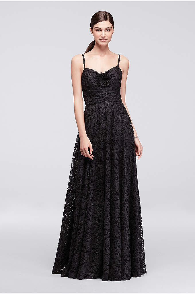 Lace Long Dress with Rose Detail - We can count on Cynthia Rowley to take