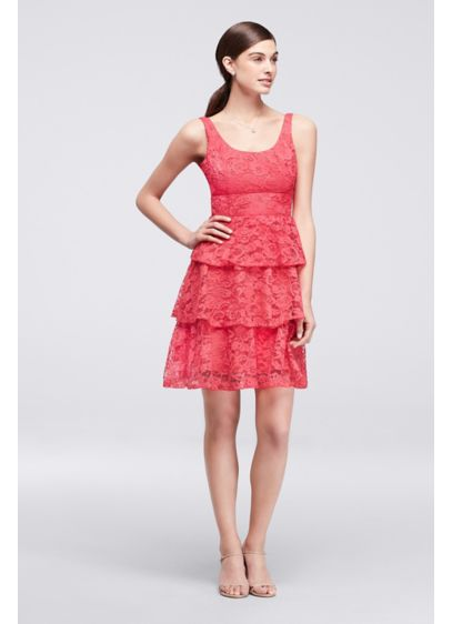 Short Orange Soft & Flowy Cheers Cynthia Rowley Bridesmaid Dress