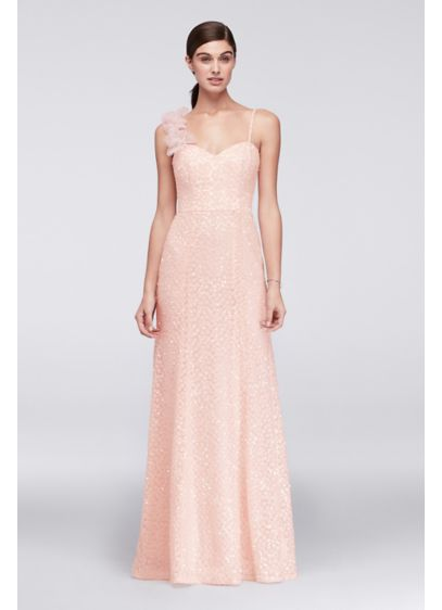 Long Pink Soft & Flowy Cheers Cynthia Rowley Bridesmaid Dress