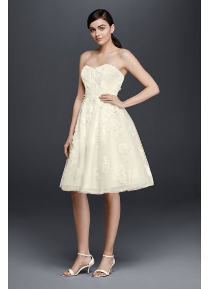 Short A-Line Beach Wedding Dress - Cheers Cynthia Rowley