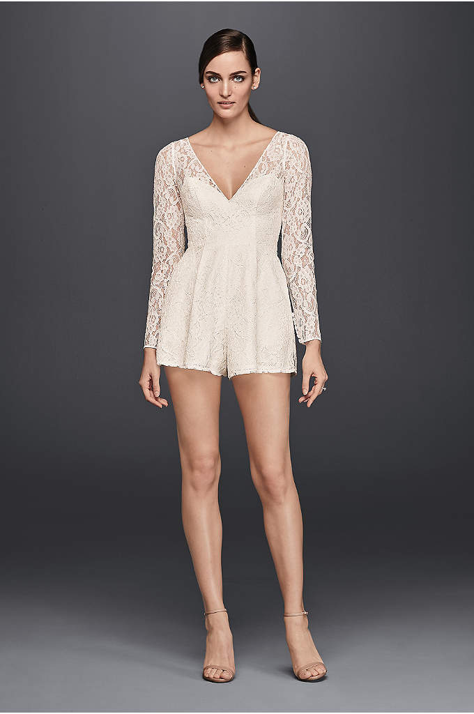 Short Lace Long-Sleeve Romper - Rompers are a fan-favorite for good reason: They're