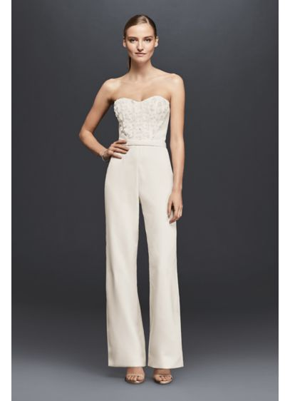 Long Jumpsuit Beach Wedding Dress - Cheers Cynthia Rowley